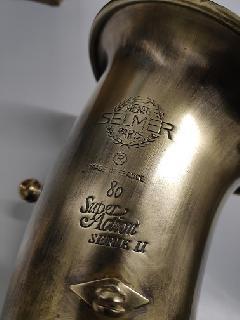 Pavillon  saxophone alto une fois la finition réalisée