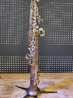 Saxophone soprano GB déverni et patiné en 2016